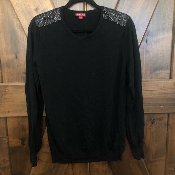 Merona - Black Sequin Sweater